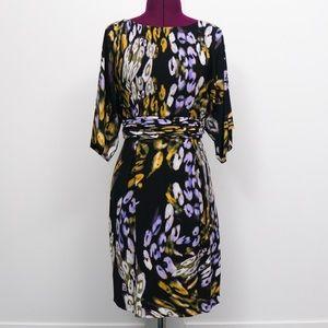 Dolman Sleeve Floral Dress